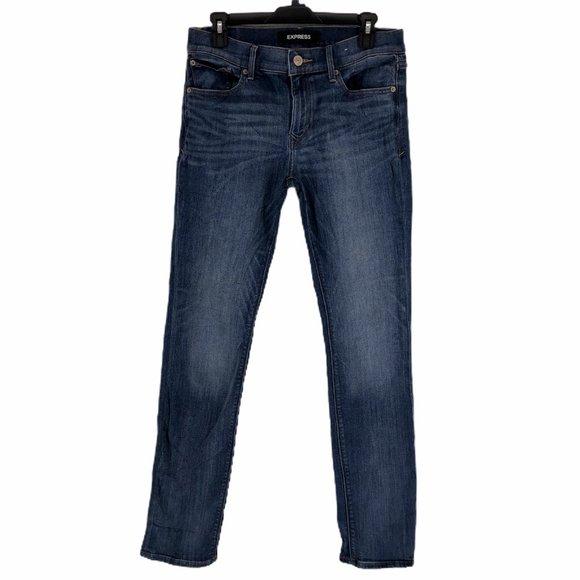 Express Denim - Express Skinny Slim Stretch Denim Jeans Sz 8 Long